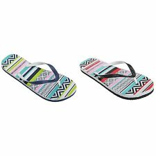 FLOSO Womens/Ladies Aztec Pattern Toe Post Flip Flops