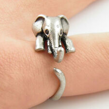 Fashion Lovely Cute Women Silver Gold Elephant Ring Lucky Jewelry Party Design