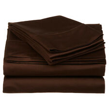 Complete Bedding Item 100% Pima Cotton 600TC Chocolate Solid Choose Size & Set