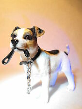 JACK RUSSELL DOG ORNAMENT/ FIGURE FIGURINE GIFT  # JACK RUSSELL ORNAMENT GIFT