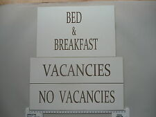 No Vacancies, Vacancies Engraved signs Ideal for Hotels Bed and Breakfast etc.