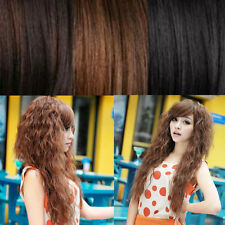 Womens Fashion Hot Sexy Wavy Cosplay Party Long Hair Wigs Full Curly 3 Colors