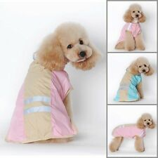 Waterproof Dogs Pets Puppy Hooded Raincoat Jumpsuit Outdoor Rain Clothes Jacket