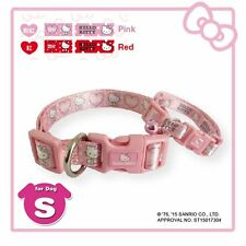 "Hello Kitty Dog Puppy Collar w/ Bell 1PC 8""-12"" SMALL Size Dog PINK or RED Dots"