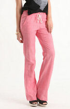 WOMEN'S/JRS ROXY OCEANSIDE SWIM BEACH PANTS COMFY LOUNGE BOTTOMS CORAL PINK NEW