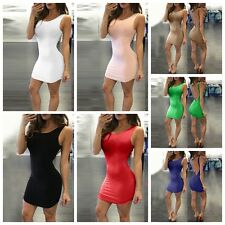 Women Girls Sleeveless Bandage Bodycon Backless Clubwear Cocktail Mini Dresses