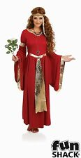 Ladies Renaissance Costume Medieval Maiden Tudor Priestess Fancy Dress Size 8-26