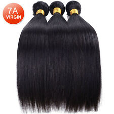 100% Unprocessed Peruvian 7A Straight Human Hair Extensions Weave 3 Bundles/300g