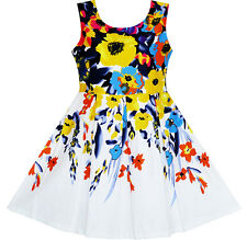 Flower Girl Dress Elegant Princess Colorful Blooming Flower Size 4-10 Pageant