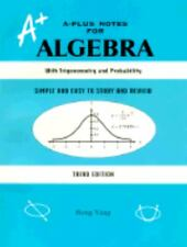 A-Plus Notes for Algebra by Rong Yang (2000, Hardcover)