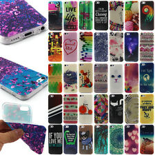 """For iPhone 4S 5S 5C 6 6S 4.7"""" Pattern Print Case Soft Silicone TPU Cover Skin"""