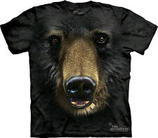 The Mountain Black Bear Face Adult T-Shirt PRINT IN USA MT52