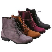 Women's Lace Up Block Heel Ankle Boots-BLACK;GREY;TAUPE;WINE