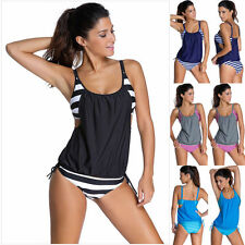 2Pcs Summer Women Sexy Tops Vest+Bottom Bikini Swimwear Swimsuit Bathing Suit