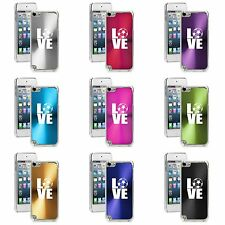 Apple iPod Touch 5th 6th Generation Hard Case Cover Love Soccer