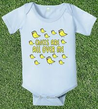 chicks are all over me one piece baby boys t-shirt jumper jumpsuit funny infant