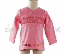 NWT Deux par Deux Demoiselle Gribouillis Jersey pink corantion girls Top 4 5 D72