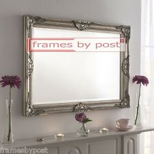 Large Ornate Shabby Chic Antique style Bevelled Mirrors in White Gold & Silver