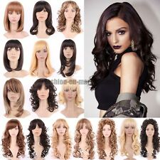 UK Massive Wig Simulation Scalp Wig Two Tone Ombre Full Wigs Long Straight Wavy