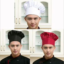 Hat Fashion Cap Kitchen Baker Cook Chef Adjustable Men Catering Elastic