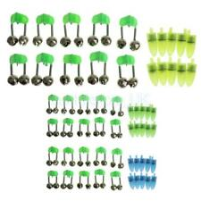 10PCS Plastic Fishing Twin Sea Rod Bells Ring Bite Bait Lure Alarm Clip Tackle