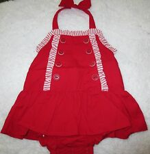 NWT Gymboree Sailor Baby Red Halter Shortsie One Piece Baby Girl 0-3 months