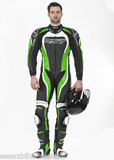 RST TRACTECH EVO 2 ONE PIECE MOTORCYCLE RACE LEATHERS GREEN 1415