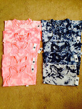 NWT Gap Kids Pink and Blue Cotton Tie Dye Tank Top Girls