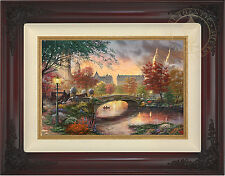 Thomas Kinkade Autumn In New York 12 x 18 Limited Edition S/N Canvas Framed