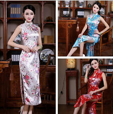 Traditional Chinese Silk Satin Women's Dress Cheong-sam SZ S M L XL XXL