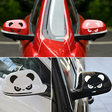 Car Rear View Mirror Back Cartoon Angry Panda Pattern Sticker 3D Reflectiv SN