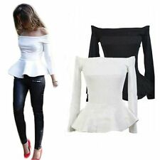 New Women Fashion Sexy Vest Shirt Long Sleeve Blouse Casual Tank Top T-Shirt