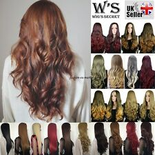 25'' Long Straight Curl Wavy Ombre 3/4 Full Wigs Two Tone Hair Wig Newcome Brown