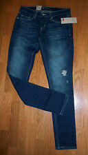 Levi's 524 0190 Too SuperLow Ultra Low Rise  Skinny  Destroyed Dark Blue Jeans