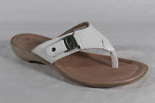 Ladies Toe thong Mules Mules Real leather White NEW