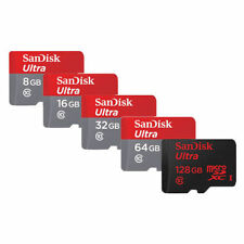 SanDisk 16GB 32GB 64GB (SDHC) Ultra Micro SD Card 80MB/s UHS-I Class10 w Adapter
