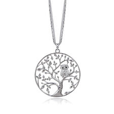 Fashion Multilayer Women Gold Silver Plated Classic Tree Large Pendant Necklace