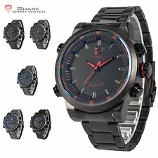 Hammerhead Shark Military Men LED Digital Date Day Analog Quartz Sport Watch