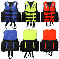 S-XXXL Polyester Adult Life Jacket Universal Swimming Boating Ski Vest + Whistle