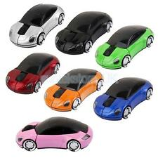 3D Car Shaped 2.4GHz Wireless Cordless Optical Mouse Laptop PC Mice USB Receiver