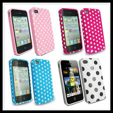 Stylish Polka Dots TPU Silicone Case Cover for Apple iPhone 4 4G 4S