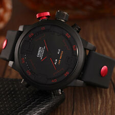 OHSEN Mens Watches Sport Watches Alarm LED Silicone Military Waterproof