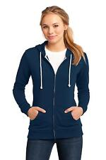 District DT290 Hoodie Sweat Shirt Ladies Juniors Core Fleece Full-Zip Hoodie NEW