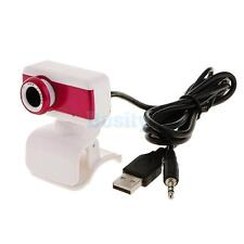 USB Night Vision Webcam Camera Web Cam w/ Mic Clip for Computer PC Laptop Skype