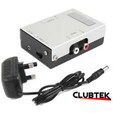 Phono Preamp Mains Power Pre-amplifier Stereo Vinyl Turntable Amp Aux Line Level