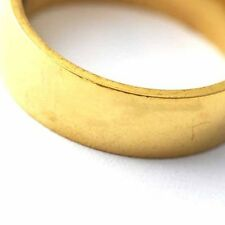 Unisex stainless steel wedding Band Ring Smooth Gold Filled Band Ring size 7-11