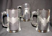 Robin Batman Partner 3 Mug Set R Red Hood Nightwing Etched Beer Mug Pint Glass