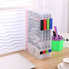 A4 File Storage Box Clear Plastic Document Cases Desk Paper Organizers Holders