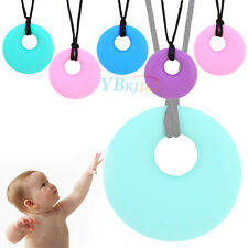 Silicone Baby Teether Teething Safe Pendant Chain Soft Chew Nursing Necklace New