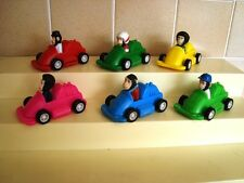 Complete Set Of 6 Brooke Bond PG Tips Bump and Go Cars